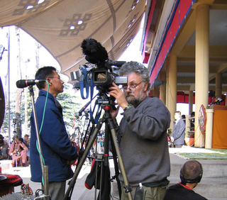 Robb Filming in Dharamsala India